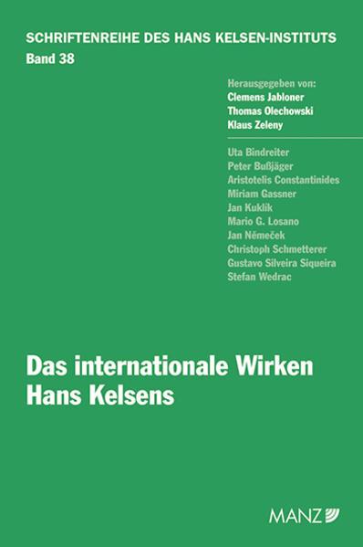 Das internationale Wirken Hans Kelsens - Coverbild