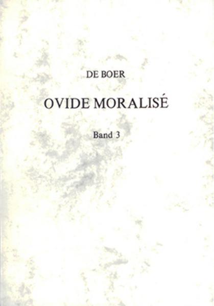 Ovide moralisé / Ovide Moralisé - Vol. 3 - Coverbild