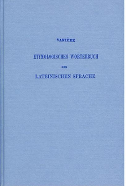 Etymologisches Wörterbuch der lateinischen Sprache - Coverbild