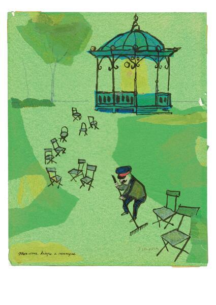 Karte Ungerer, Mon vieux kiosque (20 Ex) - Coverbild