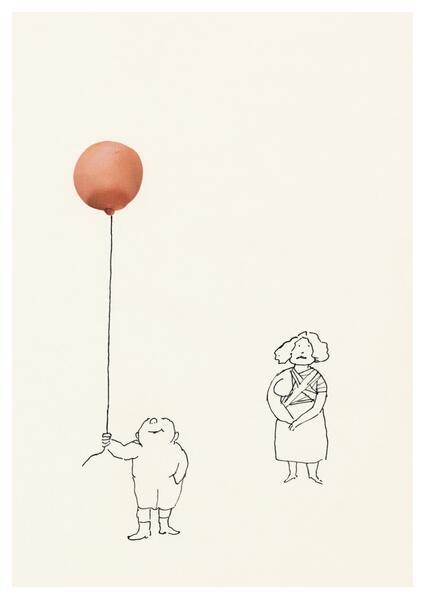 Karte Ungerer, ohne Titel/Luftballon (20 Ex) - Coverbild