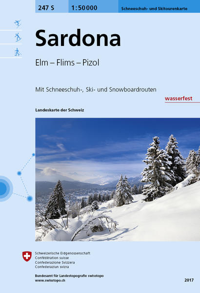 247S Sardona Schneeschuh- und Skitourenkarte - Coverbild