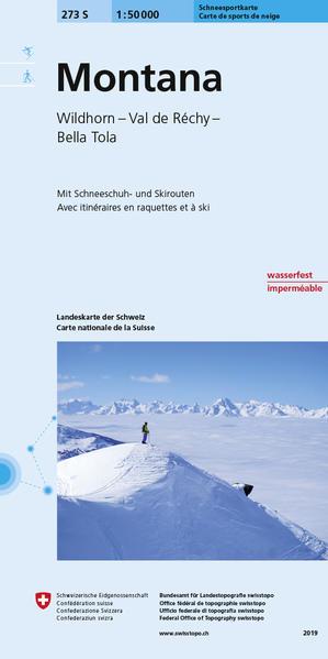 273S Montana Carte de randonnées à raquette et à ski - Coverbild