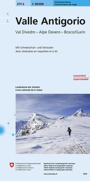 275S Valle Antigorio Carta scialpinistica e per racchette da neve - Coverbild