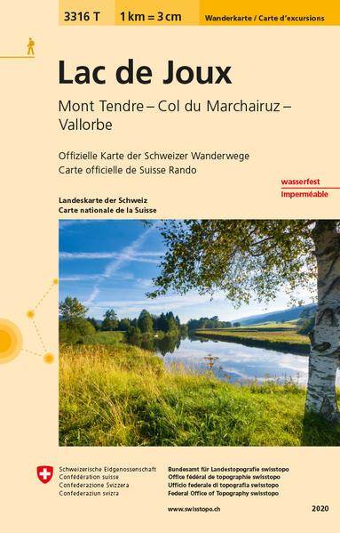 3316T Lac de Joux Carte d'excursions - Coverbild