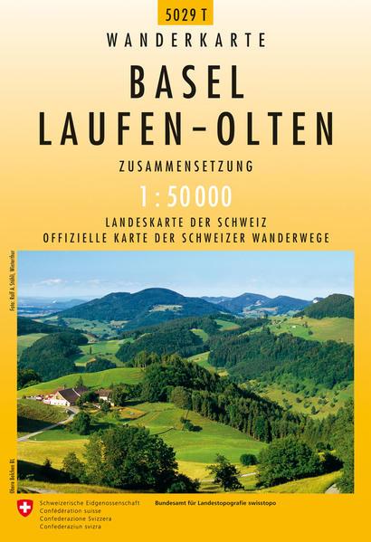 5029T Basel - Laufen - Olten Wanderkarte - Coverbild