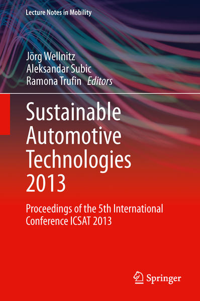 Sustainable Automotive Technologies 2013 - Coverbild