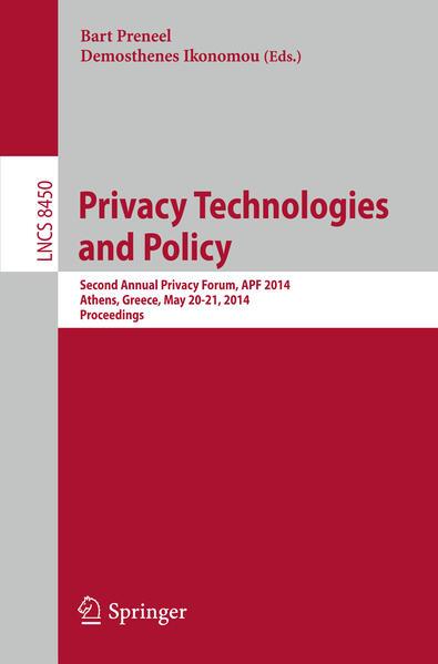 Privacy Technologies and Policy Laden Sie Das Kostenlose PDF Herunter