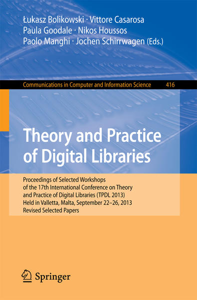 Theory and Practice of Digital Libraries -- TPDL 2013 Selected Workshops - Coverbild