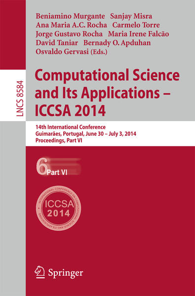 Computational Science and Its Applications - ICCSA 2014 - Coverbild