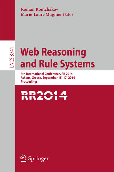 Web Reasoning and Rule Systems - Coverbild