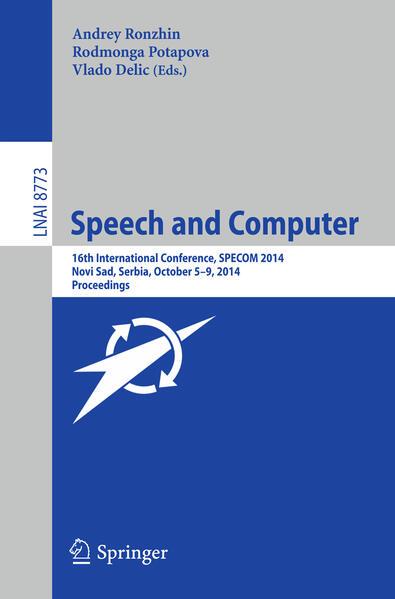 Speech and Computer - Coverbild
