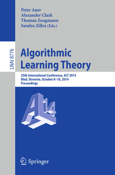Algorithmic Learning Theory - Coverbild