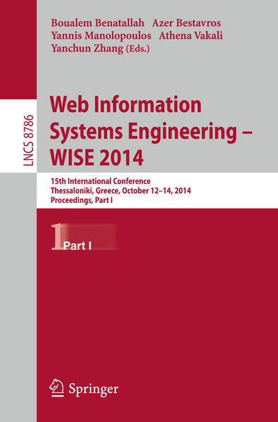 Web Information Systems Engineering -- WISE 2014 - Coverbild