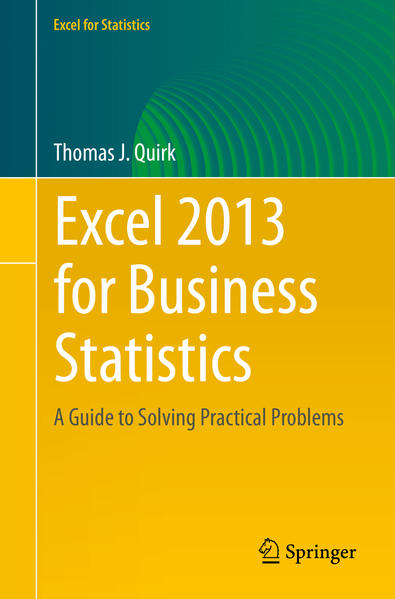 Excel 2013 for Business Statistics - Coverbild