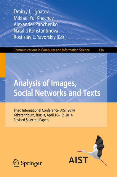 Analysis of Images, Social Networks and Texts - Coverbild