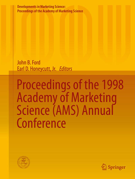 Proceedings of the 1998 Academy of Marketing Science (AMS) Annual Conference - Coverbild