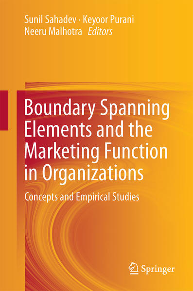 Boundary Spanning Elements and the Marketing Function in Organizations - Coverbild