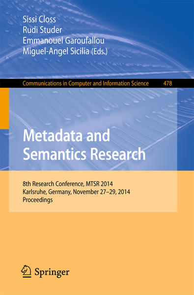 Metadata and Semantics Research - Coverbild