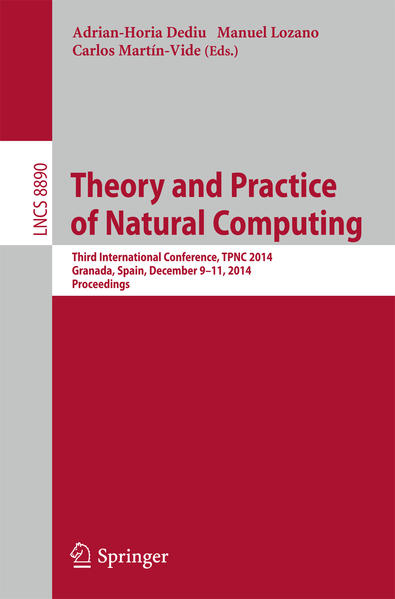 Theory and Practice of Natural Computing - Coverbild