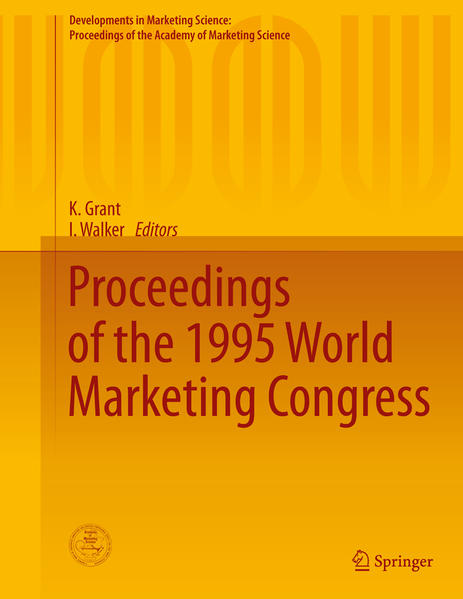 Proceedings of the 1995 World Marketing Congress - Coverbild