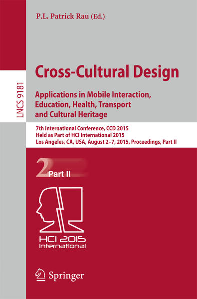 Cross-Cultural Design Applications in Mobile Interaction, Education, Health, Transport and Cultural Heritage - Coverbild
