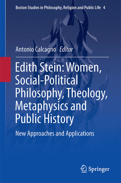 Edith Stein: Women, Social-Political Philosophy, Theology, Metaphysics and Public History - Coverbild
