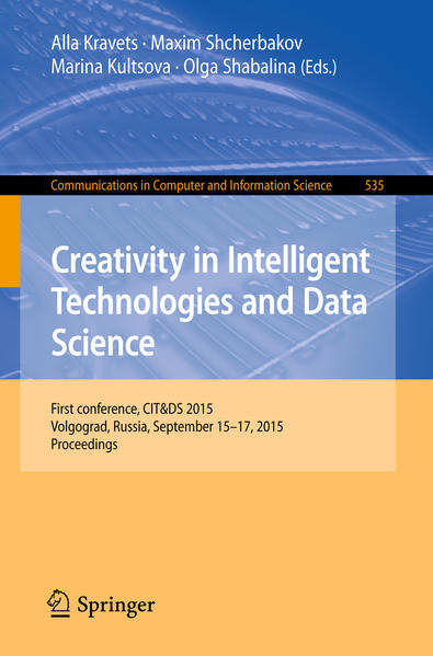 Creativity in Intelligent Technologies and Data Science - Coverbild