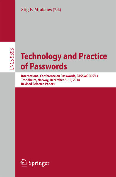 Technology and Practice of Passwords - Coverbild