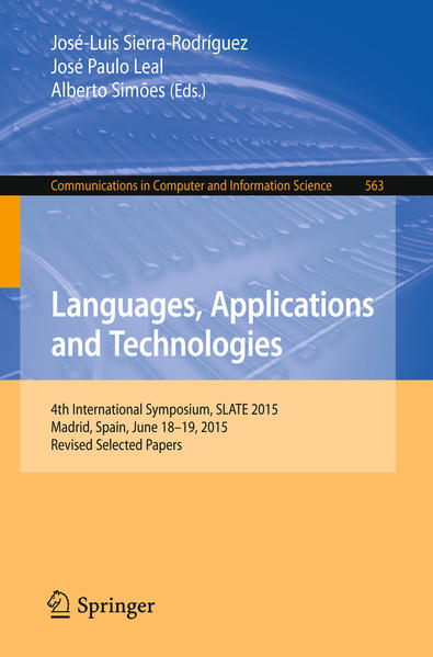 Languages, Applications and Technologies - Coverbild