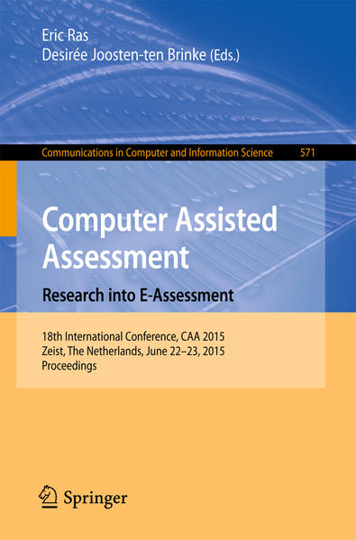 Computer Assisted Assessment. Research into E-Assessment - Coverbild