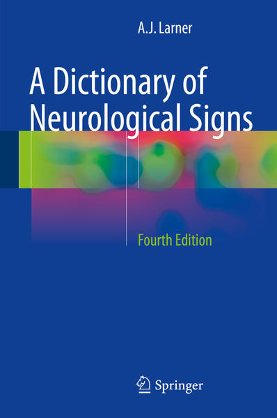 A Dictionary of Neurological Signs - Coverbild