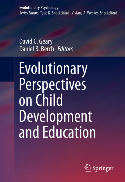 Evolutionary Perspectives on Child Development and Education - Coverbild