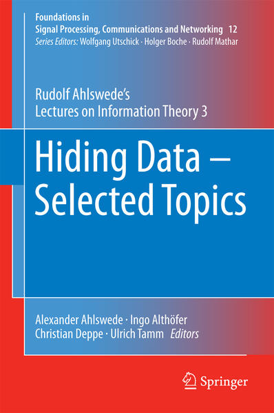 Hiding Data - Selected Topics - Coverbild