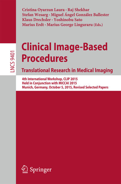 Clinical Image-Based Procedures. Translational Research in Medical Imaging - Coverbild