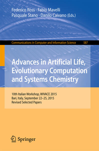 Advances in Artificial Life, Evolutionary Computation and Systems Chemistry - Coverbild