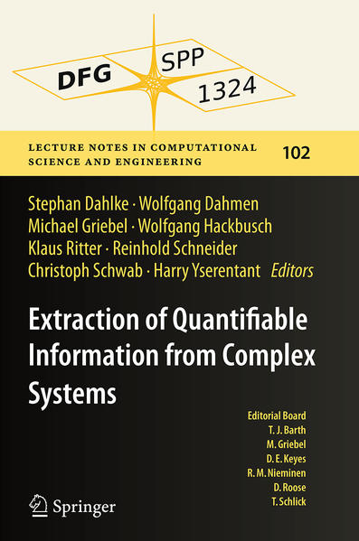 Extraction of Quantifiable Information from Complex Systems - Coverbild