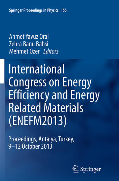 International Congress on Energy Efficiency and Energy Related Materials (ENEFM2013) - Coverbild