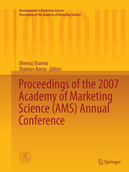 Proceedings of the 2007 Academy of Marketing Science (AMS) Annual Conference - Coverbild