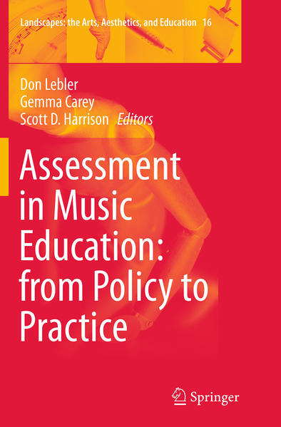 Assessment in Music Education: from Policy to Practice - Coverbild