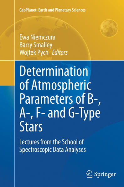 Determination of Atmospheric Parameters of B-, A-, F- and G-Type Stars - Coverbild