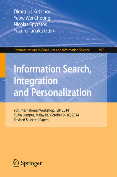 Information Search, Integration and Personalization - Coverbild