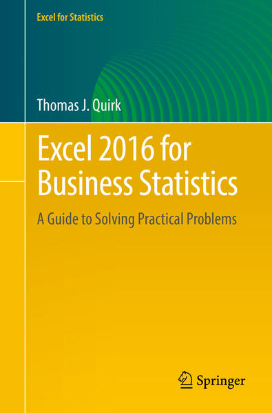 Excel 2016 for Business Statistics - Coverbild
