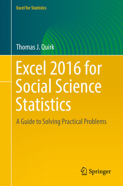 Excel 2016 for Social Science Statistics - Coverbild