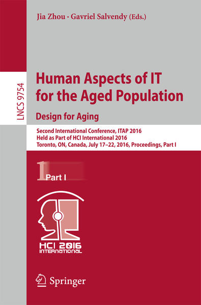 Human Aspects of IT for the Aged Population. Design for Aging - Coverbild