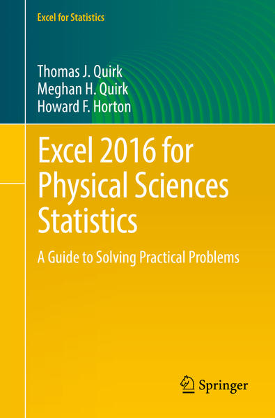Excel 2016 for Physical Sciences Statistics - Coverbild