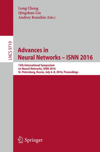 Advances in Neural Networks – ISNN 2016 - Coverbild