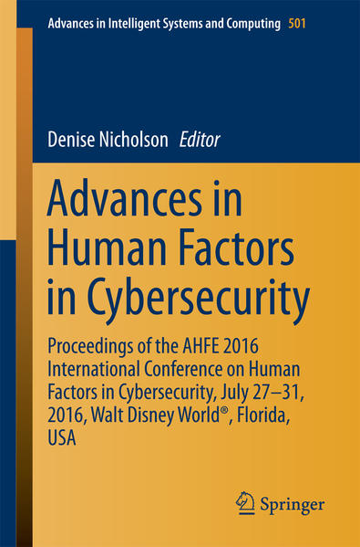 Advances in Human Factors in Cybersecurity - Coverbild