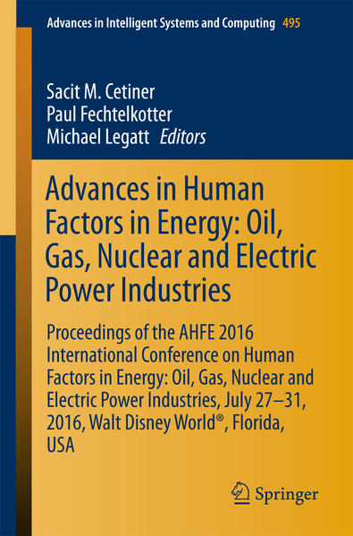 Advances in Human Factors in Energy: Oil, Gas, Nuclear and Electric Power Industries - Coverbild