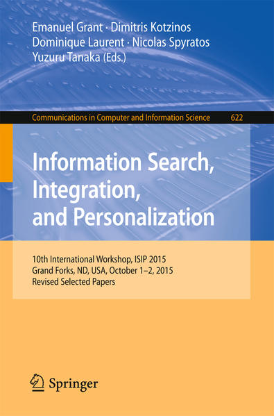 Information Search, Integration, and Personalization - Coverbild